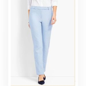 Talbots light blue high rise straight leg pants 4